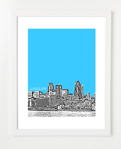 London England Europe VERSION 3 Posters and Skyline Art Prints | By BirdAve