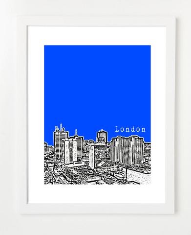 London Ontario Canada Posters and Skyline Art Prints | By BirdAve Posters