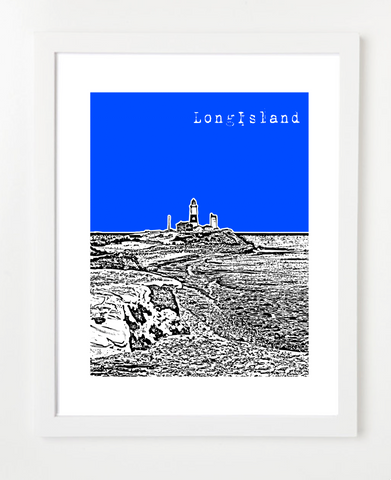 Long Island New York USA Skyline Art Print and Poster | By BirdAve Posters