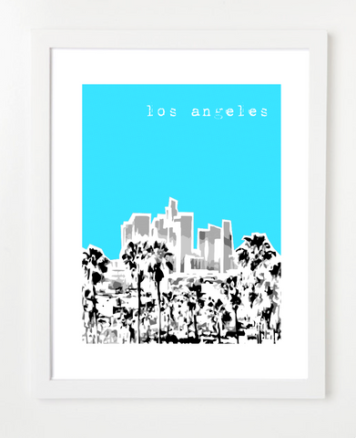 Los Angeles California VERSION 1 Skyline Art Print and Poster | By BirdAve Posters