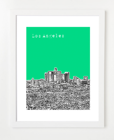 Los Angeles California USA VERSION 2 Skyline Art Print and Poster | By BirdAve Posters