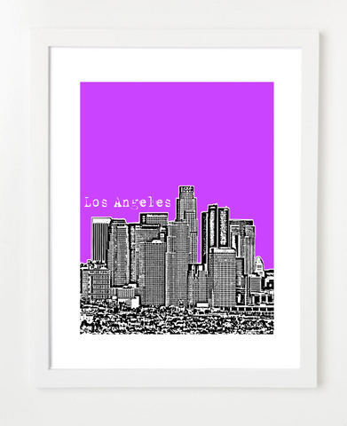 Los Angeles California USA VERSION 3 Skyline Art Print and Poster | By BirdAve Posters