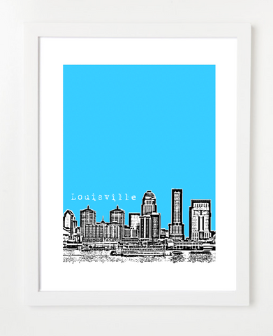 Louisville Kentucky Skyline Art Print and Poster | By BirdAve Posters