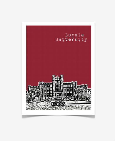 New Orleans Loyola University Louisiana Poster