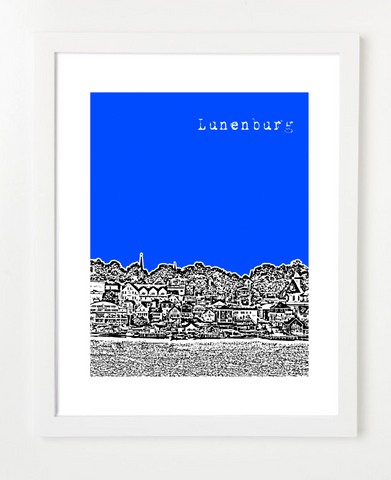 Lunenburg Nova Scotia Canada Posters and Skyline Art Prints | By BirdAve Posters