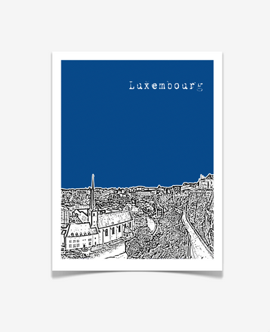 Luxembourg City Luxembourg Europe Poster