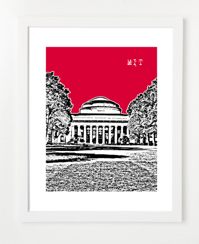 Boston Massachusetts Institute of Technology MIT Skyline Art Print and Poster | By BirdAve Posters
