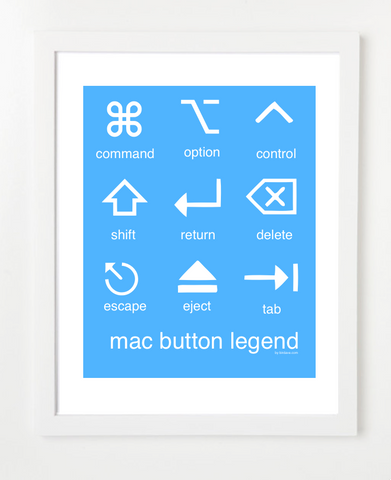 Mac Button Legend Blue Posters and Skyline Art Prints | By BirdAve
