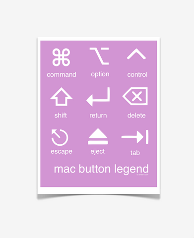 Mac Button Legend Posters Purple