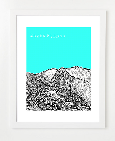 Machu Picchu Peru Latin America Posters and Skyline Art Prints | By BirdAve