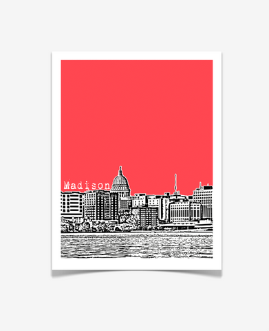 Madison Wisconsin Poster