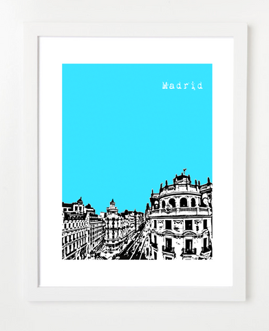 Madrid Spain Europe VERSION 1 Posters and Skyline Art Prints | By BirdAve