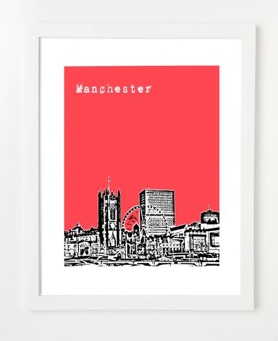 Manchester England Europe Posters and Skyline Art Prints | By BirdAve