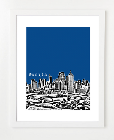 Manila Philippines Asia Posters and Skyline Art Prints | By BirdAve