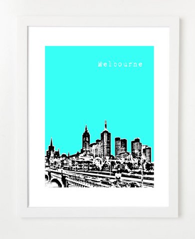 Melbourne Australia Posters and Skyline Art Prints | By BirdAve