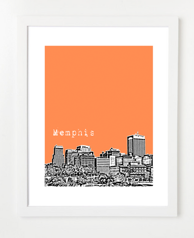 Memphis Tennessee Skyline Art Print and Poster | By BirdAve Posters