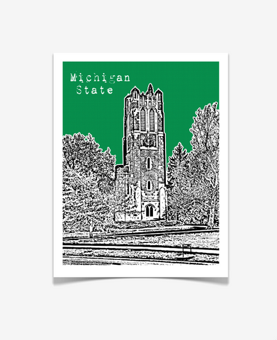East Lansing Michigan MSU Beaumont Tower Poster
