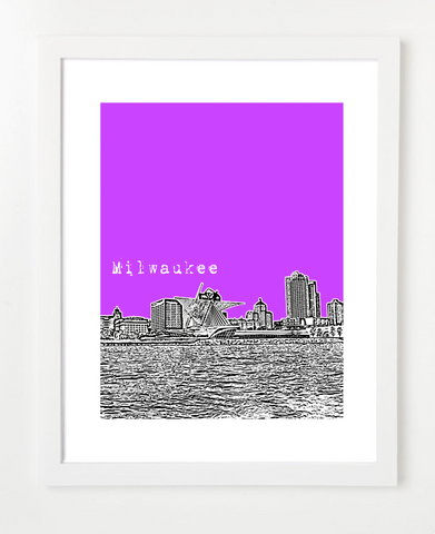 Milwaukee Wisconsin Skyline Art Print and Poster | By BirdAve Posters