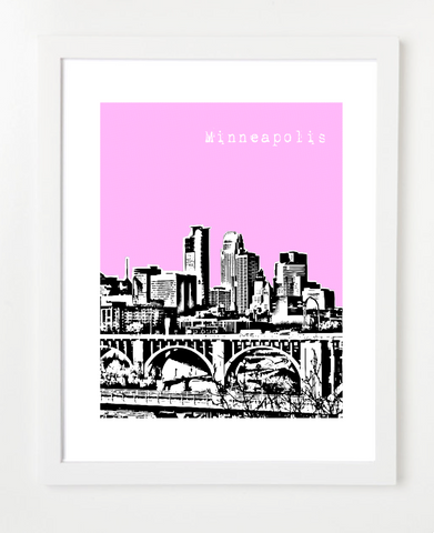 Minneapolis Minnesota VERSION 1 Skyline Art Print and Poster | By BirdAve Posters