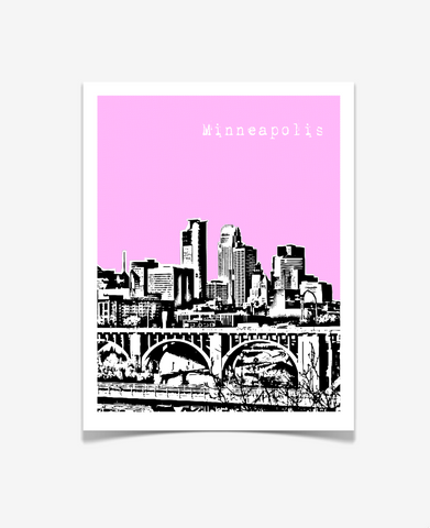 Minneapolis Minnesota Poster VERSION 1
