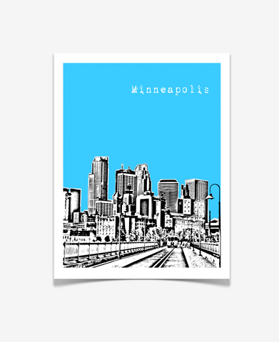 Minneapolis Minnesota Poster VERSION 2