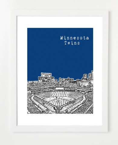 Minnesota Twins Target Field Skyline Art Print and Poster | By BirdAve Posters