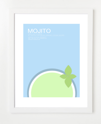Mojito Art Print - Cocktail Art for the Kitchen - Lifestyle