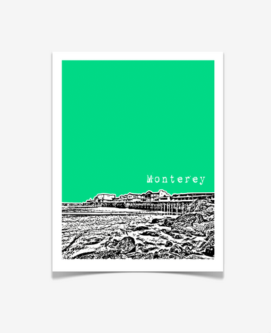 Monterey California Poster - VERSION 2