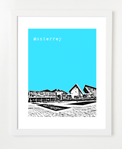 Monterrey Nuevo Leon Mexico Posters and Skyline Art Prints | By BirdAve