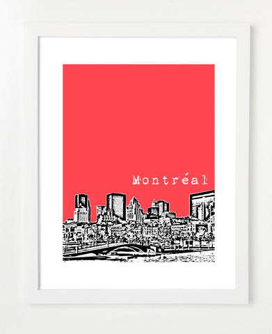 Montreal Quebec Canada Posters and Skyline Art Prints | By BirdAve