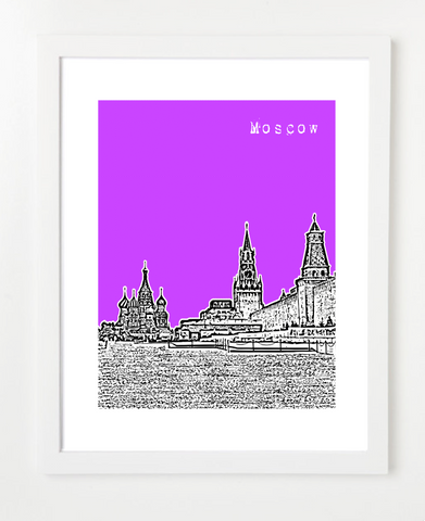 Moscow Russia Europe VERSION 2 Posters and Skyline Art Prints | By BirdAve