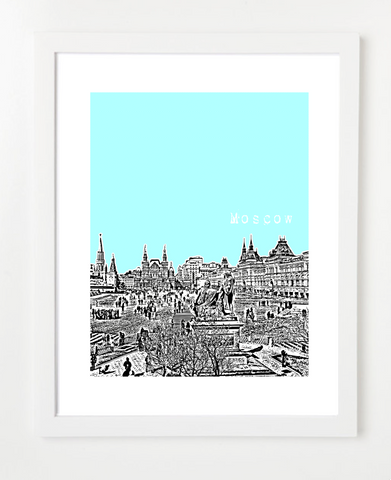 Moscow Russia Europe VERSION 1s and Skyline Art Prints | By BirdAve