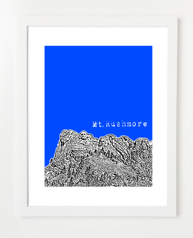 Mt. Rushmore South Dakota Skyline Art Print and Poster | By BirdAve Posters