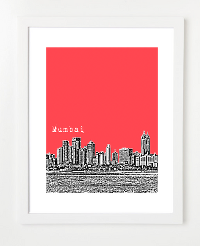 Mumbai India Asia Posters and Skyline Art Prints | By BirdAve