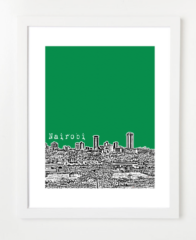 Nairobi Kenya Africa Posters and Skyline Art Prints | By BirdAve