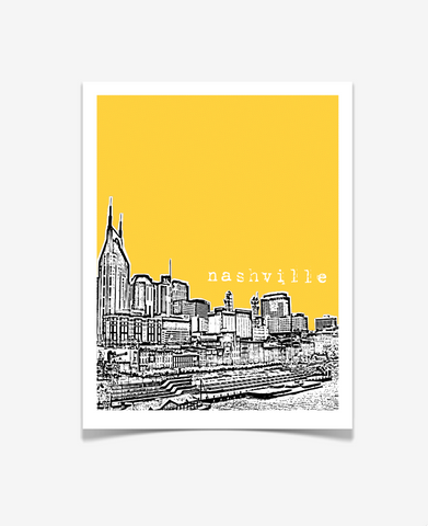 Nashville Tennessee Poster VERSION 1