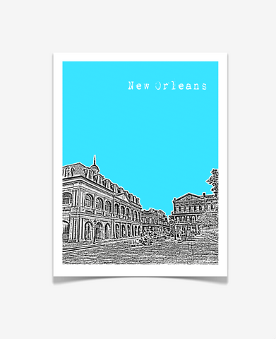 New Orleans Louisiana Poster VERSION 2