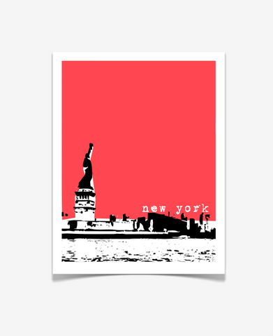 Statue of Liberty New York City Poster VERSION 1