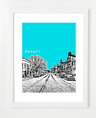 Newark Delaware USA Skyline Art Print and Poster | By BirdAve Posters