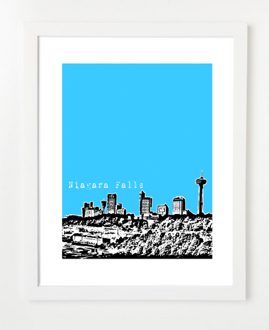 Niagra Falls Ontario Canada Posters and Skyline Art Prints | By BirdAve Posters