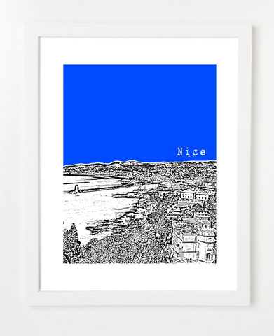 Nice France Europe Posters and Skyline Art Prints | By BirdAve
