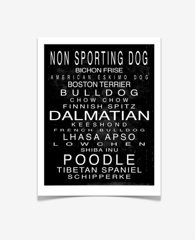 Non Sporting Dog Art Print - Pet Art Poster -
