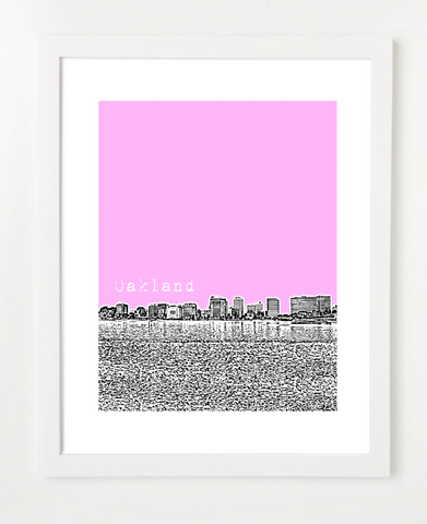 Oakland California USA Skyline Art Print and Poster | By BirdAve Posters