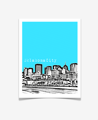 Oklahoma City Oklahoma Poster Version 1