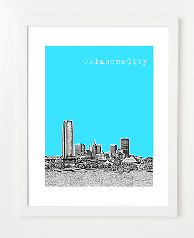 Oklahoma City Downtown Skyline Art Print and Poster | By BirdAve Posters
