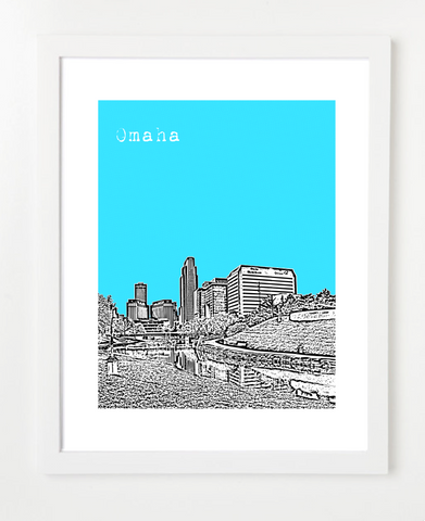 Omaha Nebraska Skyline Art Print and Poster | By BirdAve Posters