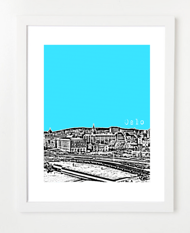 Oslo Norway Europe Posters and Skyline Art Prints | By BirdAve