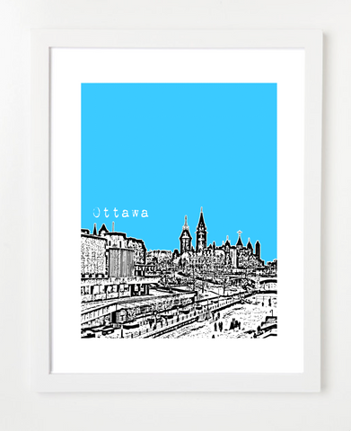 Ottawa Ontario Canada Posters and Skyline Art Prints | By BirdAve Posters