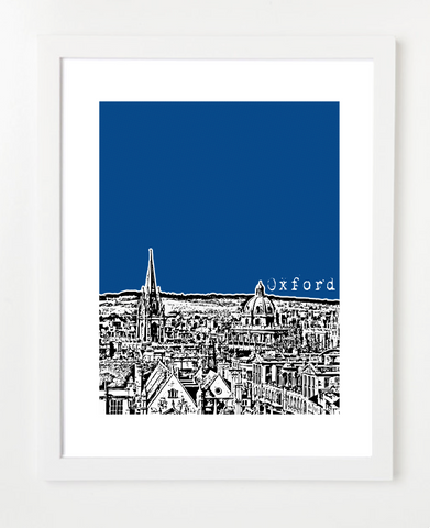 Oxford England Europe Posters and Skyline Art Prints | By BirdAve