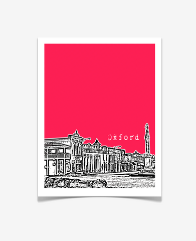 Oxford Mississippi Poster